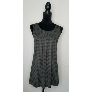 Fleurish Black Houndstooth Gold Mini Dress Size M